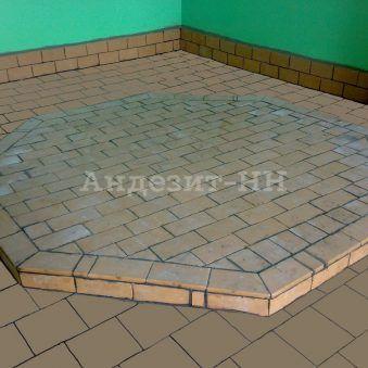 Комбинированный пол из кислотоупорной плитки