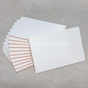 Глазурованная плитка белая матовая